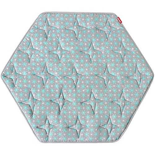 Hexagon Playpen Mat, Non Slip Baby Playmat Kids Tent Mat for Regalo Play Yard Six Panel Playpen and Summer Pop 'n Play Portable Playard, Hexagon Rug Mat Lovely Flower Print