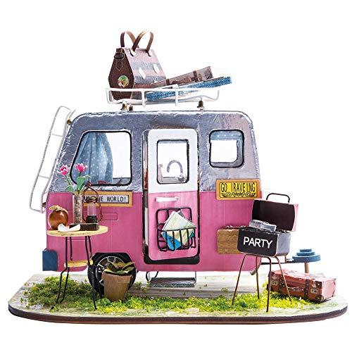 Imagine 3D DIY House Model Kit Caravan Miniature LED Light House Build