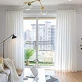 Cortinas,Cortinas,Pantallas Semi sombreados,Cortinas Semi,Blanco Hilo,para Partición Sala de Estar Dormitorio Hotel 1pcs-A 200x250cm(79x98inch)