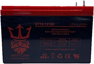 Neptune 12V 12Ah Nut & Bolt Replacement Battery for MK ES12-12TE SLA Sealed Lead Acid NT12-12 NB