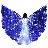 Leey Flügel Erwachsene Bauchtanz Isis Flügel Beleuchtet Leuchten Wings Kostüm mit Teleskopstangen...