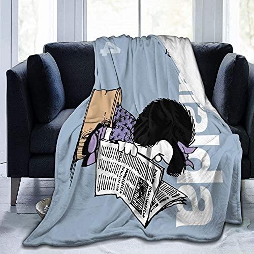 Mafalda Couverture ultra douce en polaire lestée pour canapé lit bureau 152,4 x 203,2 cm Voyage Multi-taille pour adulte