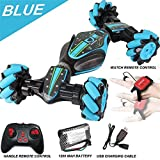 Loeiwg Stunt Remote Control Car - GW124 Gesture Sensing Twisting Vehicle & Rc Drift Car, 40 Minutes of Use, 7.4v (1200mAh) Ultra-Large Capacity High-Speed Power for 3 4 5 6 7 8-12 Year Old Boy Toys