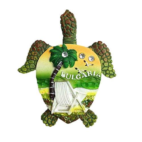 MUYU Magnet Bulgarien Schildkröte 3D Kühlschrankmagnet Reise Aufkleber Souvenir Kühlschrank Magnet Home & Küche Dekoration