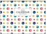 2021 Wandkalender/Familienplaner - Monat um den Familienorganisator von Januar 2021 bis Dezember 2021 anzuzeigen, Innentasche, Doppeldrahtbindung, 6 Geregelte Blöcke pro Tag, 39 x 58 cm (OFFEN)
