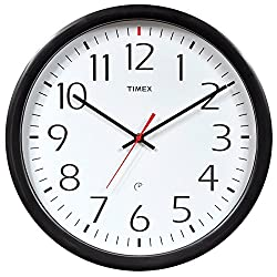 Chaney Instruments Timex 46004T Set and Forget Wall Clock, 14-Inch