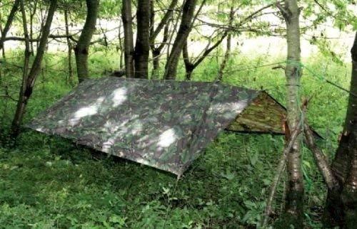 HHH Hunting Tienda militar grande camuflaje vivac para pesca acampada caza refugio de emergencia lona suelo 2,5m