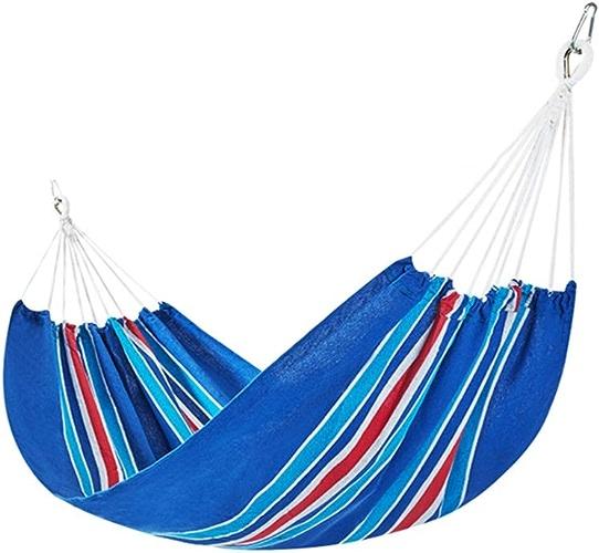 DEI QI 1-2 personnes en plein air Camping hamac toile de haute résistance en tissu Camping lit de couchage suspendu Sleeping Swing hamacs portables for le camping, Voyage, plage, jardin, chaise de par