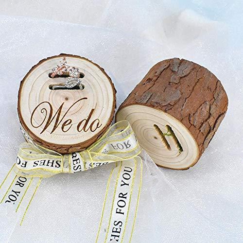 Personalisierte Ring Box Rustikalen Hochzeit Ring Box Holz Ring Halter Angepasst Hochzeit Ring Bearer Box Engagement Box