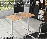 eSmart Germany elektrisch höhenverstellbarer Schreibtisch | Mit Holz-Tischplatte aus Ahorn Dekor und Tischgestell | 120 x 60 cm - 6
