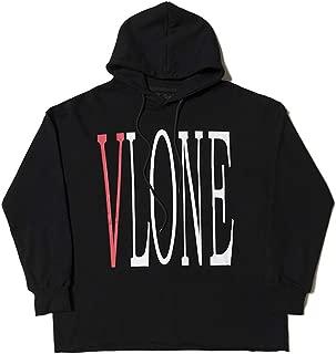 NULI Vlone Friend Letter Men Hoodie Winter White Soft Long-Sleeves Couple Sweater
