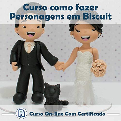 Curso online em videoaula de como fazer Personagens em Biscuit com Certificado + 2 brindes