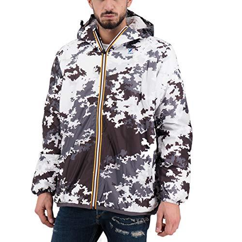 K-Way LE Vrai 3.0 Claude ORS GRAP Cappotto, Multicolore (Snow Camouflage 904), Large (Taglia Produttore:L) Uomo