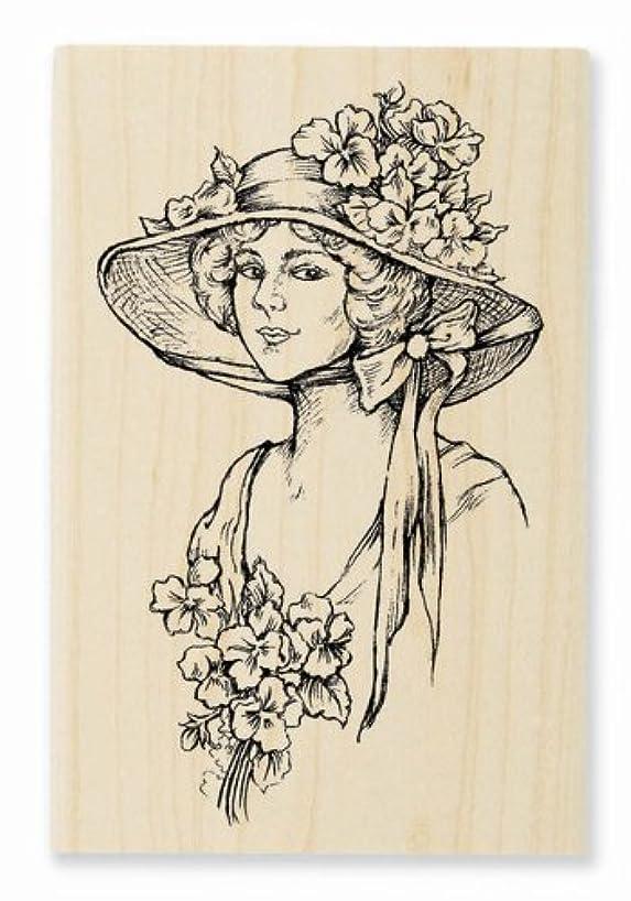 STAMPENDOUS Wood Handle Stamp, Garden Gal Image