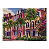 Jigsaw Puzzle, Puzzles for Adults and Kids 500 Pieces - Rainbow-Row-Charleston-Sc-Jeff-Pittman Home Decor & Game Art of Kids