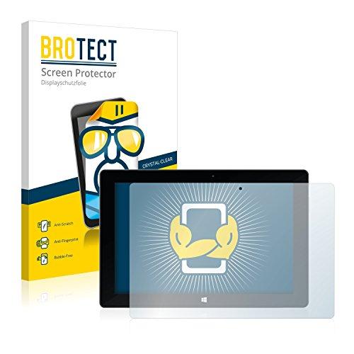 BROTECT Schutzfolie kompatibel mit TrekStor SurfTab Wintron 10.1 (Volks-Tablet) (2 Stück) klare Bildschirmschutz-Folie