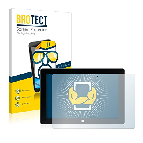 BROTECT Protector Pantalla Compatible con TrekStor SurfTab Wintron 10.1 (Volks-Tablet) Protector Transparente (2 Unidades) Anti-Huellas