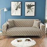 Funda de sofá elástica Fundas para sofá Funda de sofá con Todo Incluido para sofá de Diferentes Formas Funda de sofá Estilo L A14 de 3 plazas