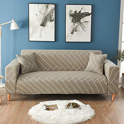 Fundas elásticas para sofá, Fundas para sofá, Todo Incluido, para sofá de Diferentes Formas, Silla, Funda para sofá Estilo L, A14, 2 plazas