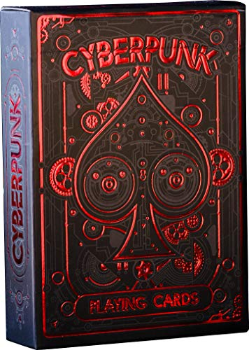 Cyberpunk Red Playing Cards, Deck of Cards with Free Card Game eBook, Premium Card Deck, Cool Poker Cards, Unique Bright Colors for Kids & Adults, Card Decks Games, Standard Size