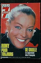 Télé 7 Jours 1285 * 1985 * Romy SCHNEIDER DE GAULLE LIO JACKY Jean LEFEBVRE Mort SHUMAN