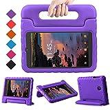 BMOUO Kids Case for Alcatel Joy Tab 8 2019/T-Mobile 3T 8 Tablet 2018/A30 Tablet 8 2017, Lightweight Kid-Proof Handle Stand Case for Alcatel Joy Tab 2019/Alcatel 3T 8 2018 / A30 8 inch 2017 - Purple