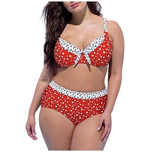 WENOVL Trajes de baño para Mujer 2020,Conjunto de Traje de baño Bikini Push-up Acolchado Push-up con Estampado de Puntos para Mujer