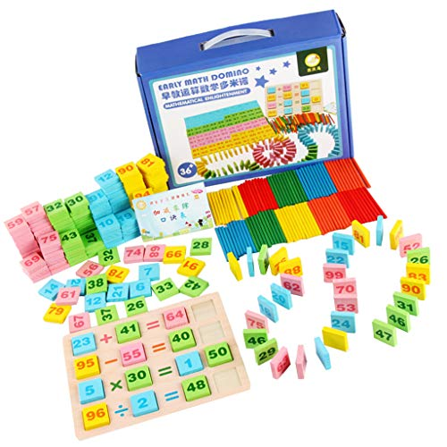 LOVIVER 100xCounting Digital Rod 200Pcs Tarjetas De Números De Madera Math Signs Count Toy
