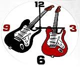 Reloj de pared e-guitarra - bonito regalo para músicos