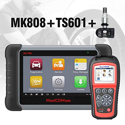 Sale!! Autel MaxiCOM MK808 Automotive OBD2 Scanner Bundle TS601 TPMS Relearn Tool 2in1 TPMS Sensor