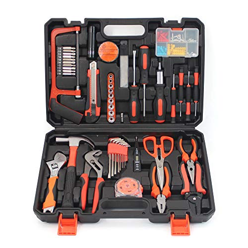 Small Household Mechanic Tool Set - 102 Piece Tool Box Set, Craftsman Basic Tool Kit, Car Tool Set, Mechanic Hand Tool Kit, Tool Kit for Home