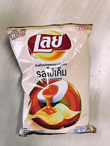 LAYS Potato Chips, Crispy Potato Chips, 75g X 2 Packs (Salted Egg Flavor)