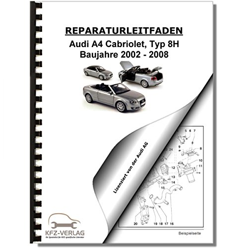 Audi A4 Cabriolet (02-08) Instandhaltung, Inspektion, Wartung Reparaturanleitung