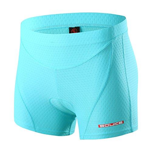 Souke Sports Damen Fahrrad Unterwäsche 4D Gepolstert Atmungsaktiv Fahrrad Unterwäsche Short