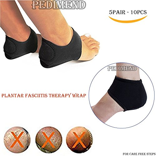 PEDIMEND Plantar Fasciitis Therapy Wrap Relief from Heel and Foot Pain Graduated Pressure Technology Plantar Fasciitis Sock Quick Muscle Recovery Unisex Foot Care Five Pairs