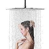 Suguword Pommeau de douche de pluie en acier inoxydable anticalcaire Pomme de douche carrée 30 cm