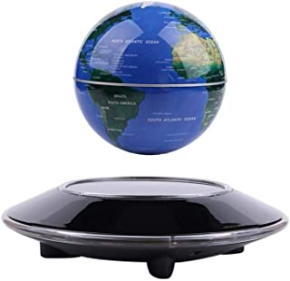 Vhouse`` Magnetic Levitation Floating Globe Anti Gravity Rotating World Map with LED Light for Children Educational Gift H...