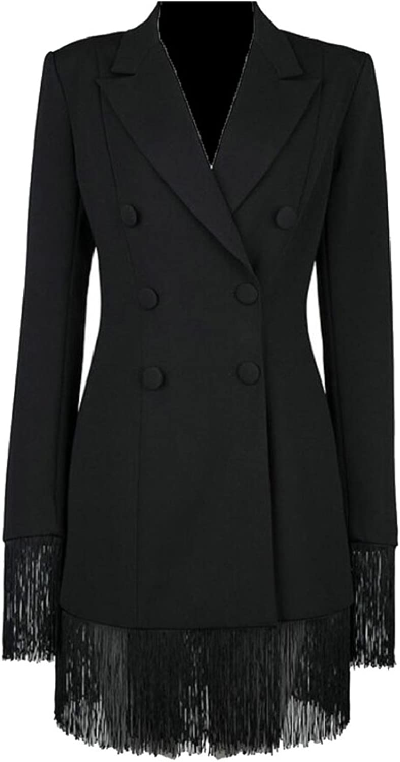 Jxfd Womens Double Breasted Military Style Blazer Ladies Coat Jackets