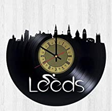 Leeds Yorkshire Vinyl Wall Clock - Handmade Artwork Unique Home Bedroom Living Kids Room Nursery Wall Decor Great Gifts id...