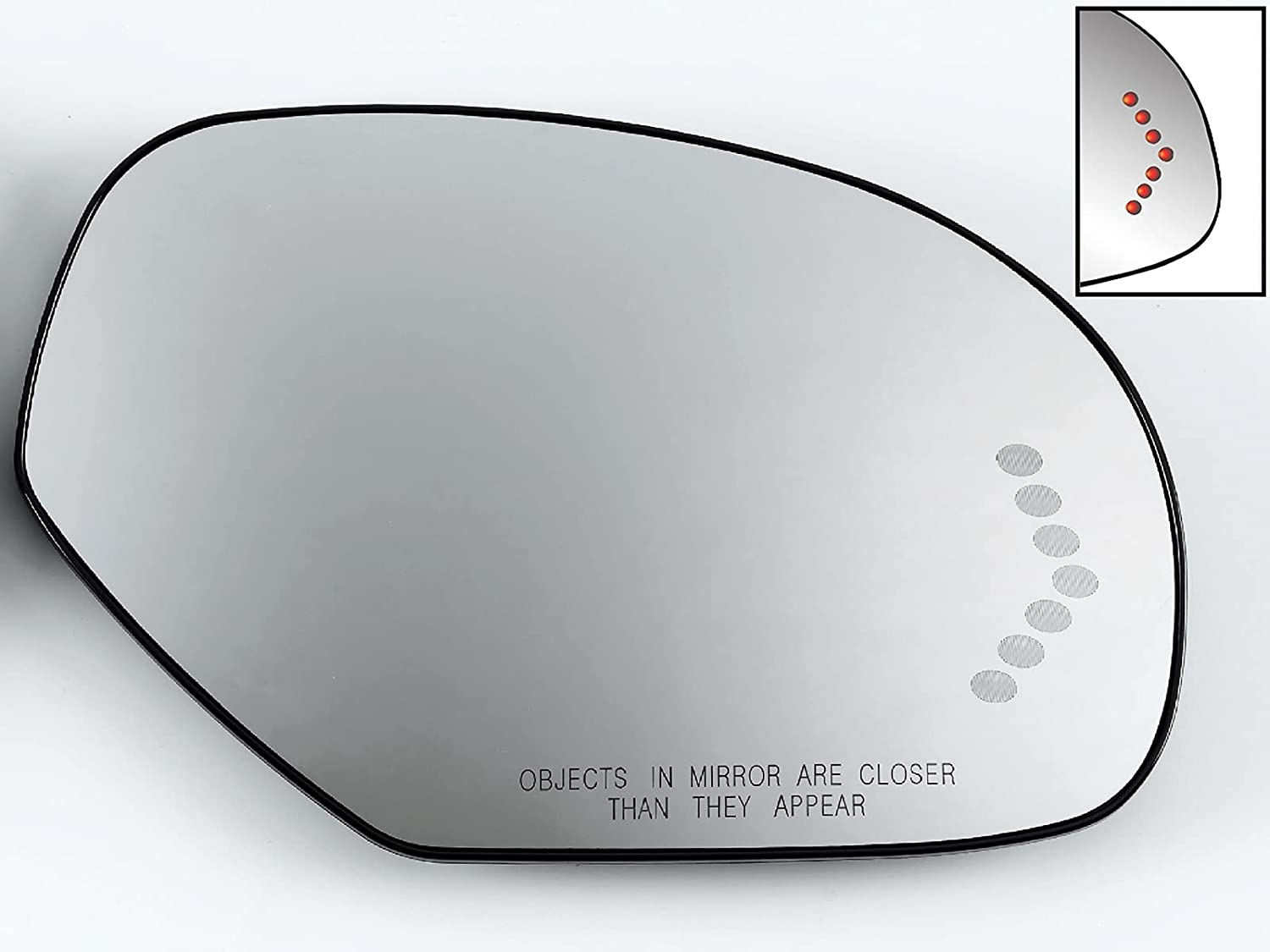 Sale item APA Replacement Mirror Glass Power Heated NEW Signal LED for with 20