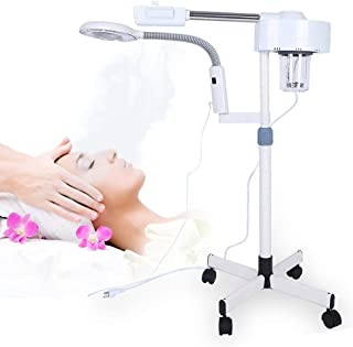 2in1 Facial Steamer LED 5X Magnifying Floor Lamp Machine Multifunction Spa Professional Humidifier Beauty Facial Clean Ski...