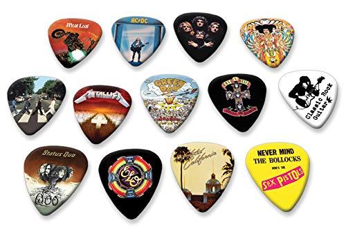 12 x Famous Album Covers Guitar Picks Collection