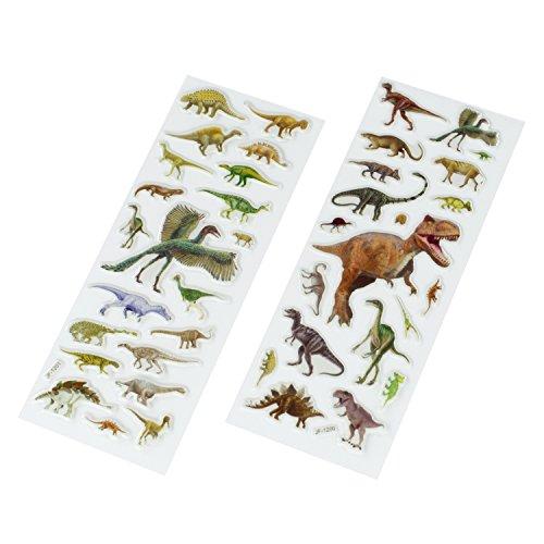 cama24com Dinosaurier Dino Gel-Sticker Aufkleber 40 Stück Mitgebsel Gastgeschenke mit Palandi® Sticker