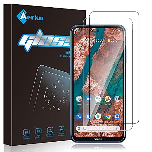 Aerku Panzerglas Schutzfolie für Nokia X20 5G [2 Stück], 9H HD Anti-Kratzer Folie Ultra Glatte Film Bildschirmschutzfolie-Transparent