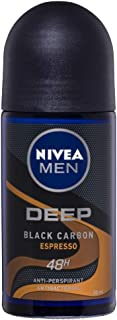 NIVEA MEN Deep Espresso Anti-Perspirant Roll-on Deodorant, 50 ml
