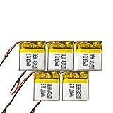 ahjs457 5PC 3.7V Lipo Celdas 302020 100mah Batería Recargable de polímero de Litio para MP3 MP4 GPS Auriculares Bluetooth Lámpara LED Reloj Inteligente