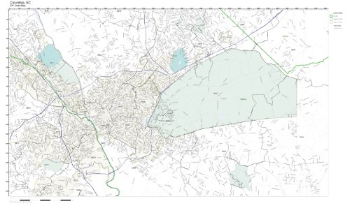ZIP Code Wall Map of Columbia, SC ZIP Code Map Laminated