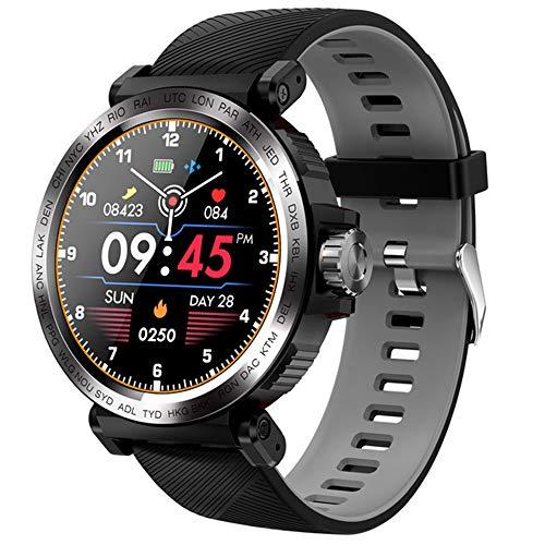 ZWW Pantalla Táctil Completa S18 Reloj Inteligente IP68 Impermeable De Los Hombres De Los Deportes del Reloj Monitor De Ritmo Cardíaco Smartwatch para iOS Teléfono Android,C