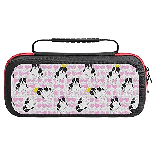 French Bulldogs Printed Carrying Case Storage Bag For Nintendo Switch Lite & Accessories Travel Portable
