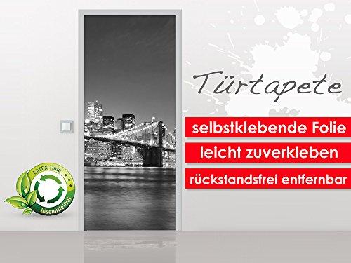 XXL-Tapeten Porte Papier Peint Brooklyn Bridge II Autocollantes au Format 90 x 210 cm – Premium – Facile à Coller sans Bulles de Trend Murs